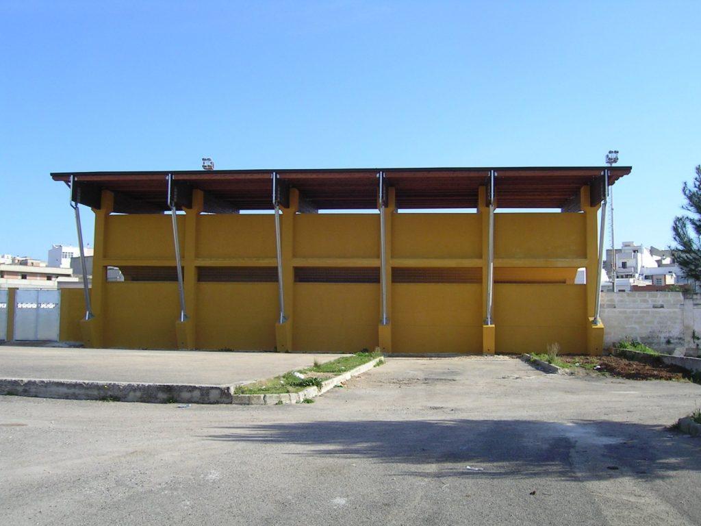 Tribuna impianto sportivo San Marzano